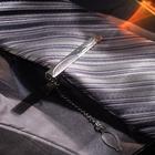 """Зажим для галстука """"Классический"""" капли, цвет серебристый"""