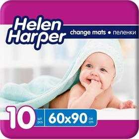 Детские впитывающие пелёнки Helen Harper, размер 60х90, 10 шт.