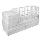 Детская кровать-трансформер Daka Baby 04, цвет белый