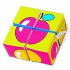 Набор мягких кубиков «Собери картинку. Ягоды,Фрукты,Овощи»