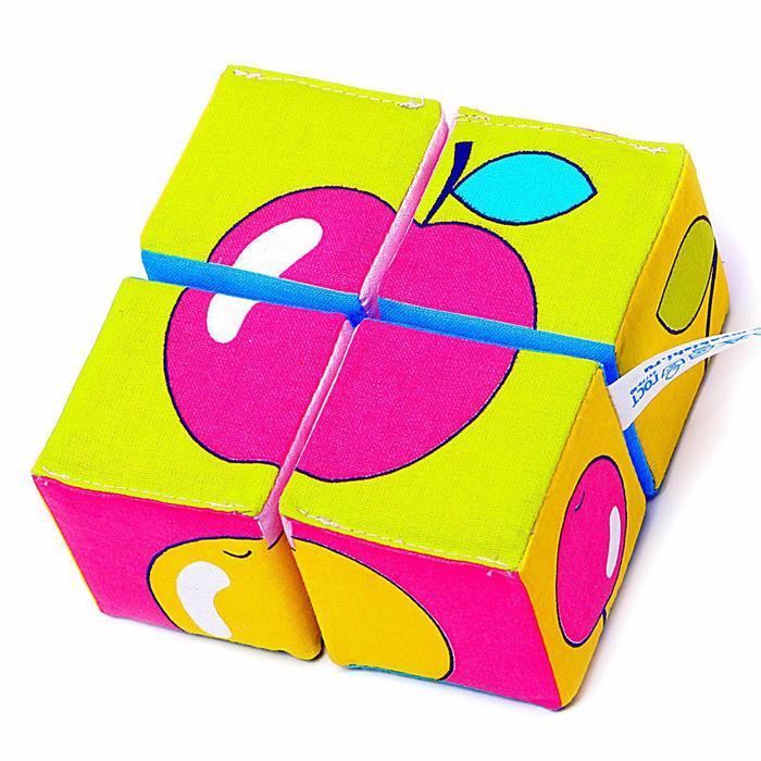 Набор мягких кубиков «Собери картинку. Ягоды,Фрукты,Овощи» - фото 554236