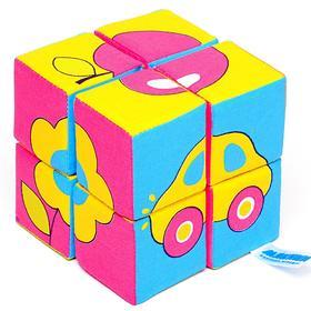 Набор мягких кубиков «Собери картинку. Предметы»