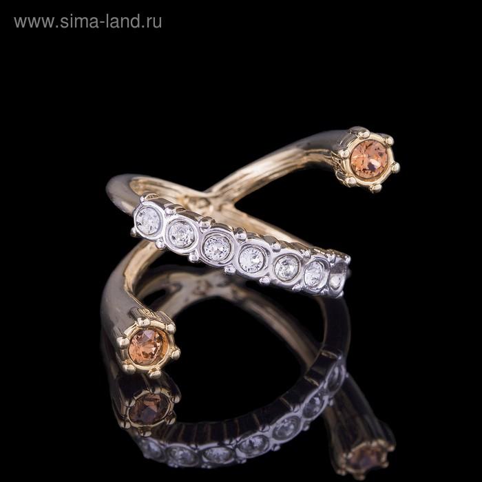 """Кольцо """"Энтина"""", размер 19, цветное в золоте"""