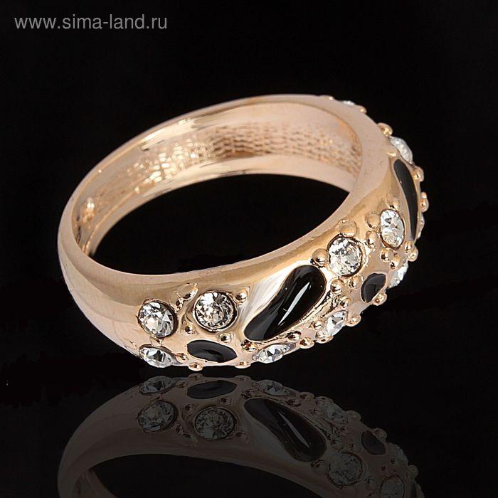"""Кольцо """"Эгида"""", размер 20, цвет чёрный в золоте"""
