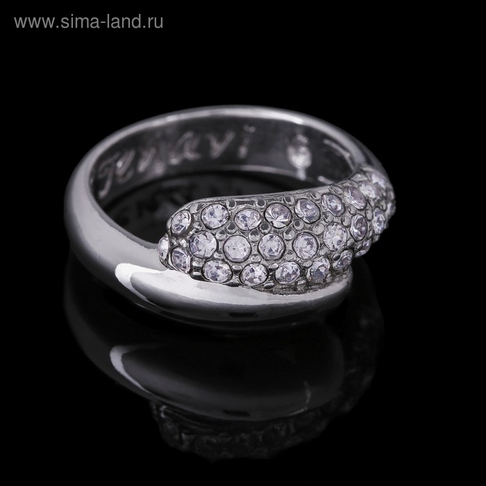"""Кольцо """"Литела"""", размер 16, цвет белый в серебре"""