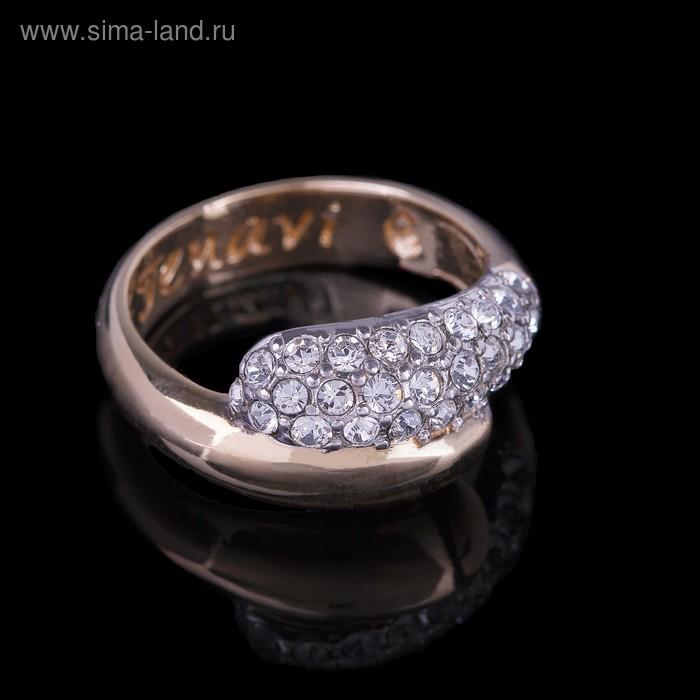 """Кольцо """"Литела"""", размер 17, цвет белый в золоте"""
