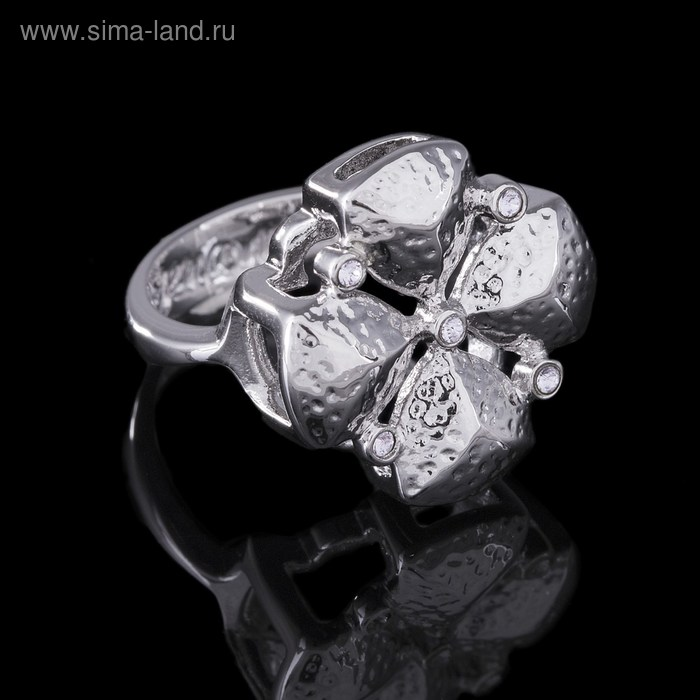 "Кольцо ""Рялеция"", размер 16, цвет серебро"