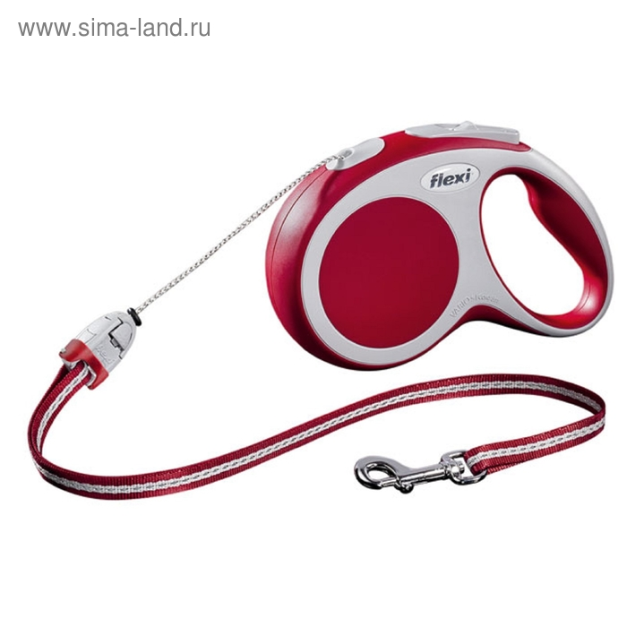 Рулетка Flexi  VARIO S (до 12 кг) 8 м трос, красная
