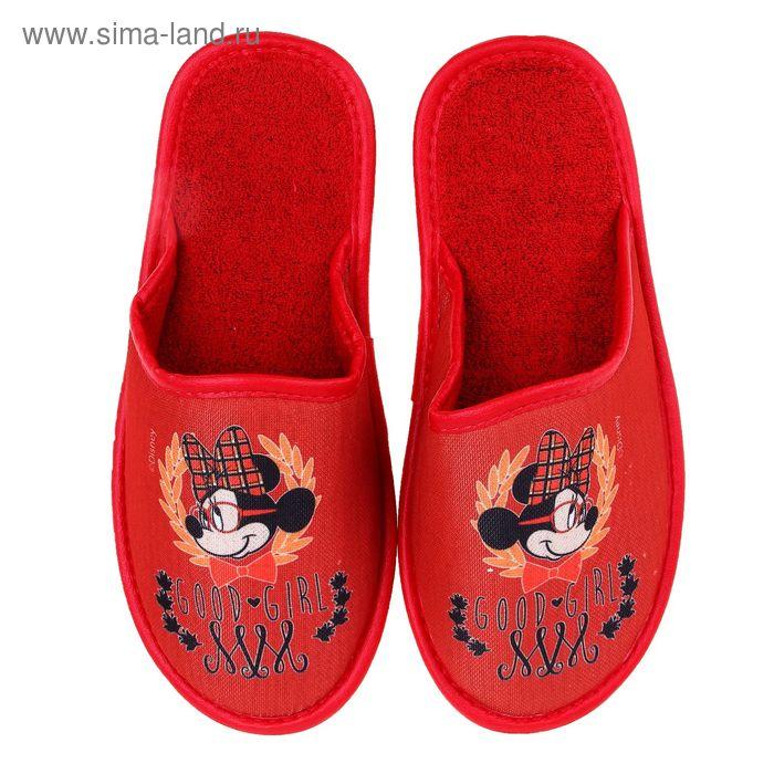 Тапочки Disney, размер 39, цвет красный (арт. BTW70601-34-31)