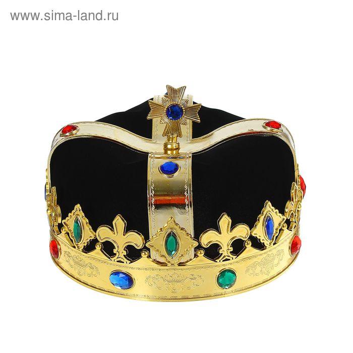 """Корона """"Король"""", цвет черный"""