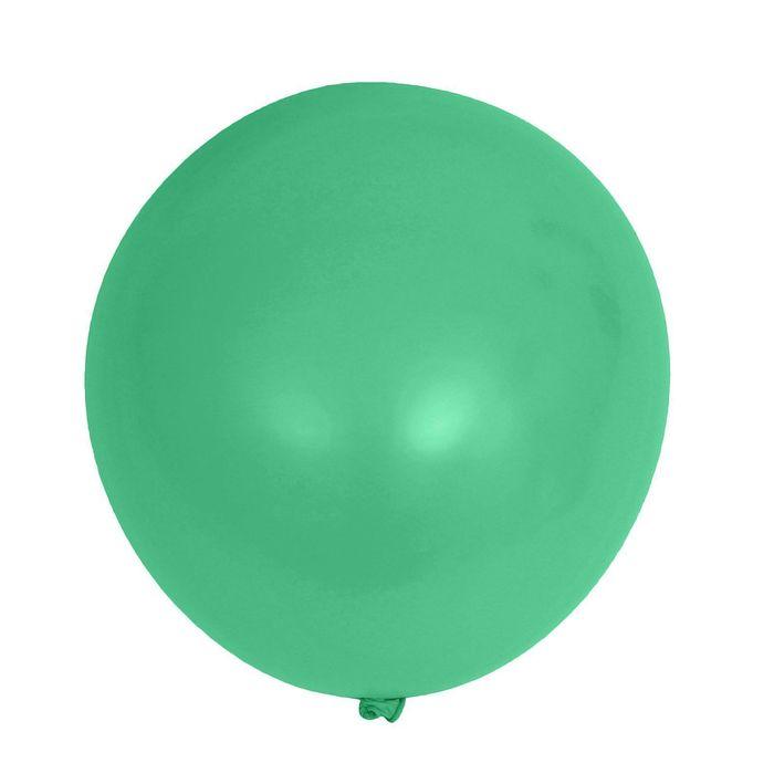 """Шар латексный 12"""", пастель, набор 50 шт., цвет зелёный - фото 308467579"""