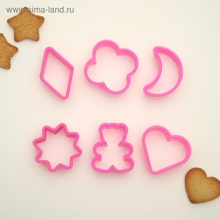 Набор форм для вырезания печенья 5,5х5х2 см, 6 шт