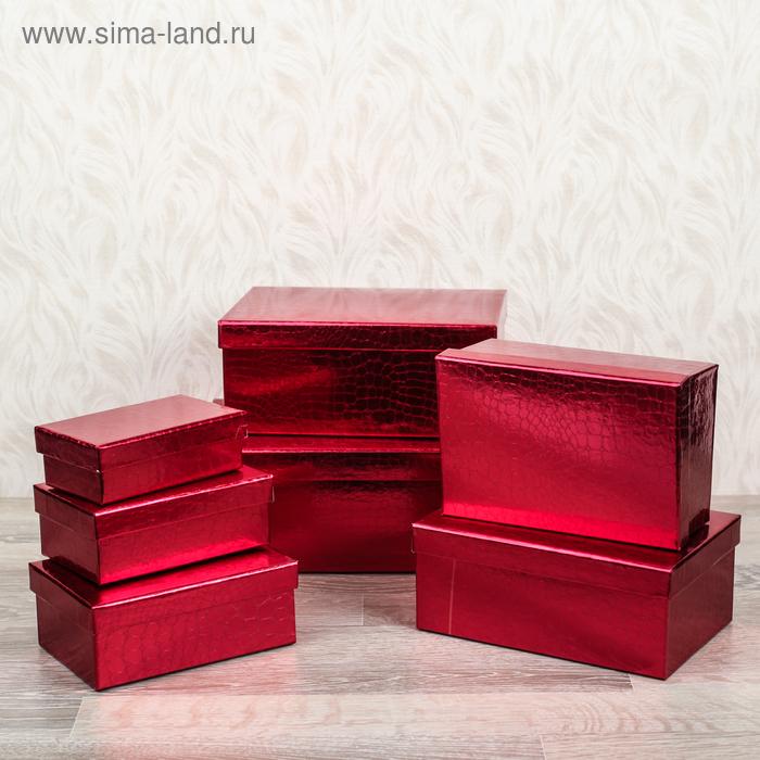 """Набор коробок 7в1 прямоуг """"Питон"""" (24,5*16,5*10,5-20*12*8,5 см), красный"""