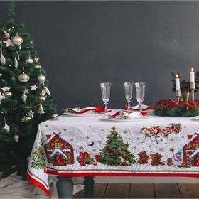 """Набор столовый """"Новогодняя сказка"""", скат.145х175см +/-3см с ГМВО, салф.40х40см-8 шт, хл100%"""