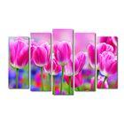 """Модульная картина на подрамнике """"Розовый сад"""", 125×80 см"""