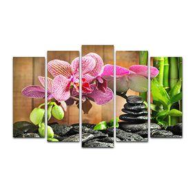 """Модульная картина на подрамнике """"Орхидея"""", 125×80 см"""