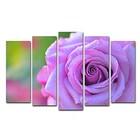 """Модульная картина на подрамнике """"Лиловая роза"""", 125×80 см"""