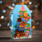 "Подарочная коробка ""Снеговик"", малая, сборная, 11 х 4,5 х 19,5 см"