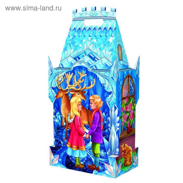 """Подарочная коробка """"Снежная королева"""", замок большой, сборная, 19,5х11,7х39 см"""
