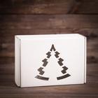 Подарочная коробка, белая, сборная, 30,6 х 21,3 х 12,1 см