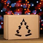 Подарочная коробка, бурая, сборная, 30,6 х 21,3 х 12,1 см