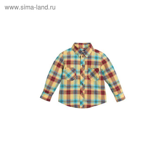 Сорочка верхняя для мальчиков, 4 года, цвет Бордовый BWJX374