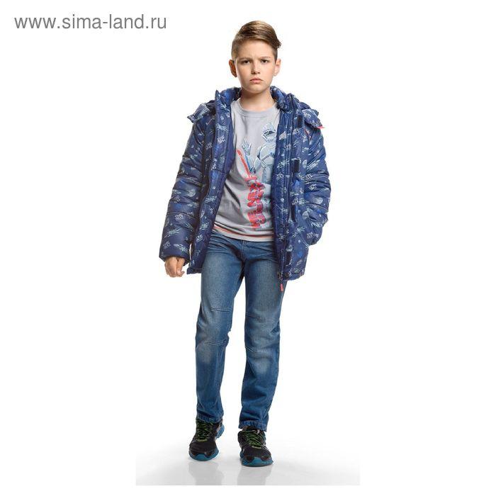 Джинсы для мальчика, возраст 14 лет, цвет синий