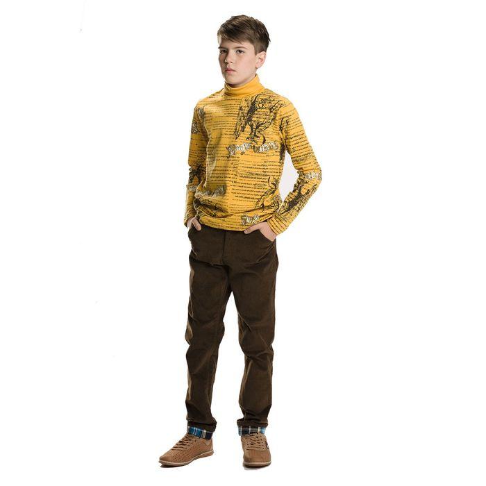 Брюки для мальчиков, возраст 9 лет, цвет коричневый
