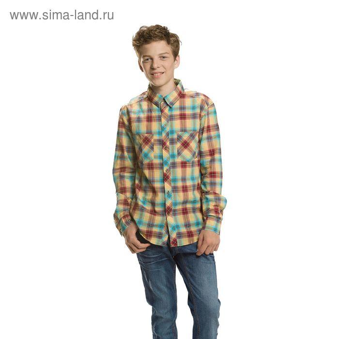 Сорочка верхняя для мальчиков, 13 лет, цвет Бордовый BWJX574