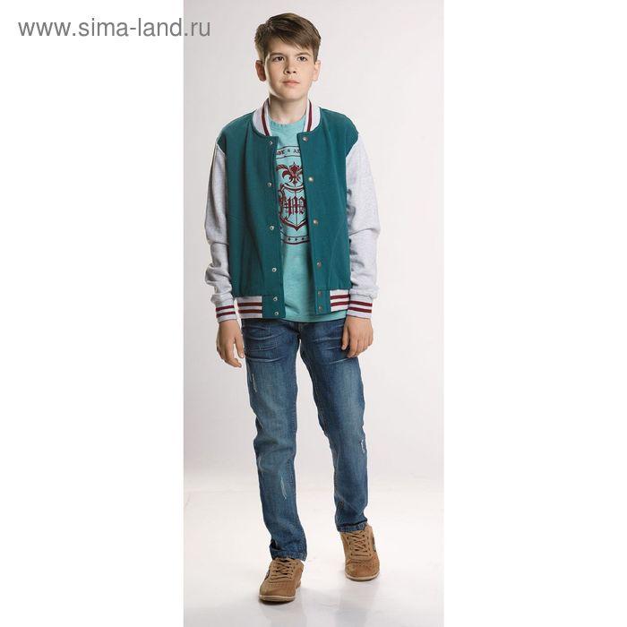 Жакет для мальчиков, 8 лет, цвет Зеленый BJX474