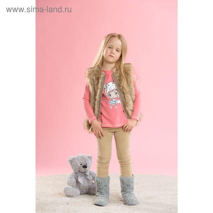 Брюки для девочек, 6 лет, цвет Бежевый GWP3003/1