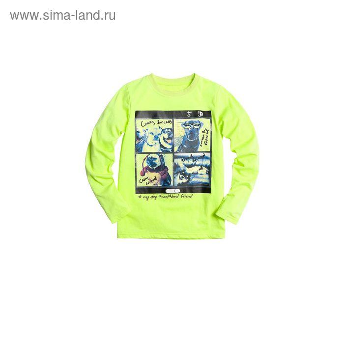 Джемпер для мальчиков, 9 лет, цвет Салатовый BJR476