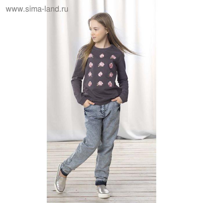 Джемпер для девочек, 10 лет, цвет Темно-серый GJR4005