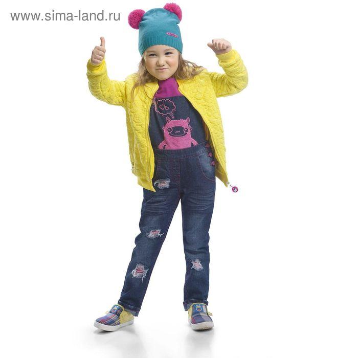 Полукомбинезон для девочек, 3 года, цвет Синий GWO3002