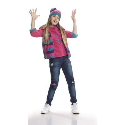 Джинсы для девочки, возраст 7 лет, цвет синий
