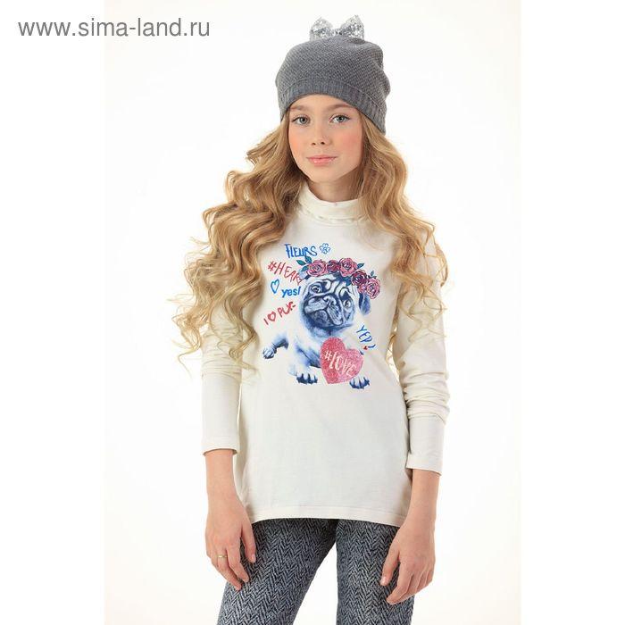 Джемпер для девочек, 12 лет, цвет Молочный GJN5006