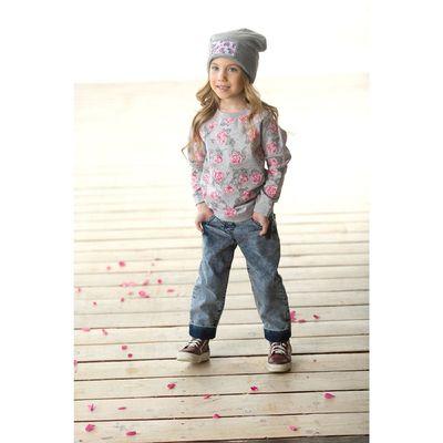 Джинсы для девочки, возраст 8 лет, цвет синий