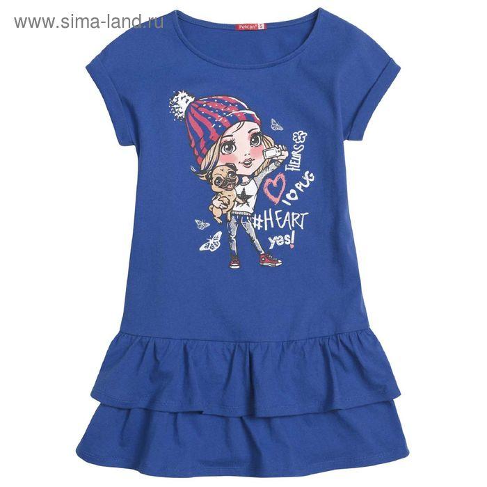 Платье для девочек, 2 года, цвет Синий GDT3006