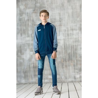 Джинсы для мальчика, возраст 12 лет, цвет синий