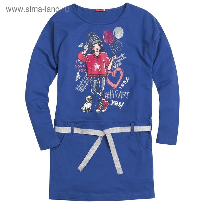 Платье для девочек, 7 лет, цвет Синий GDJ4006