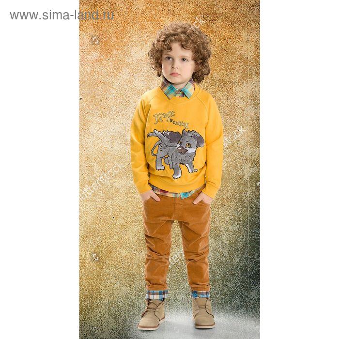 Джемпер для мальчиков, 4 года, цвет Желтый BJR374