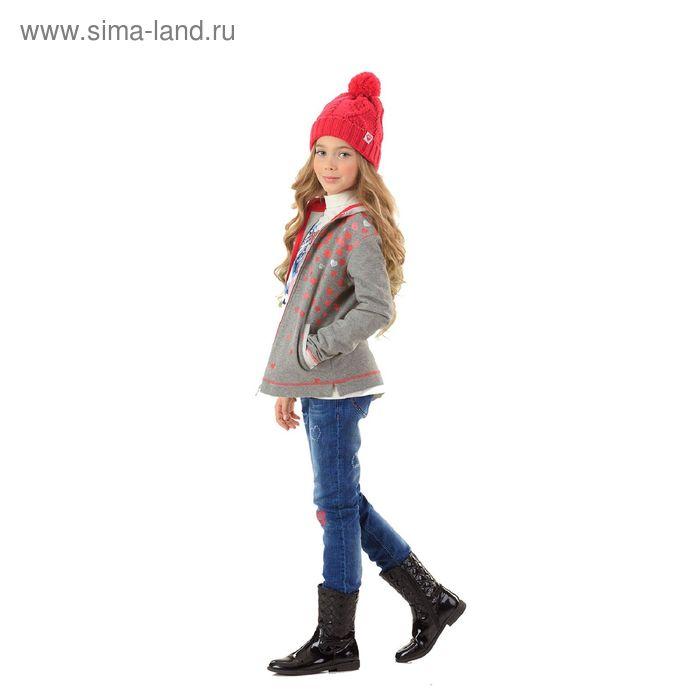 Джемпер для девочек, 8 лет, цвет Серый GJXK4006