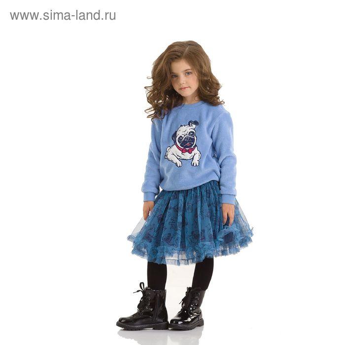Джемпер для девочек, 1 год, цвет Голубой GJR3006/1
