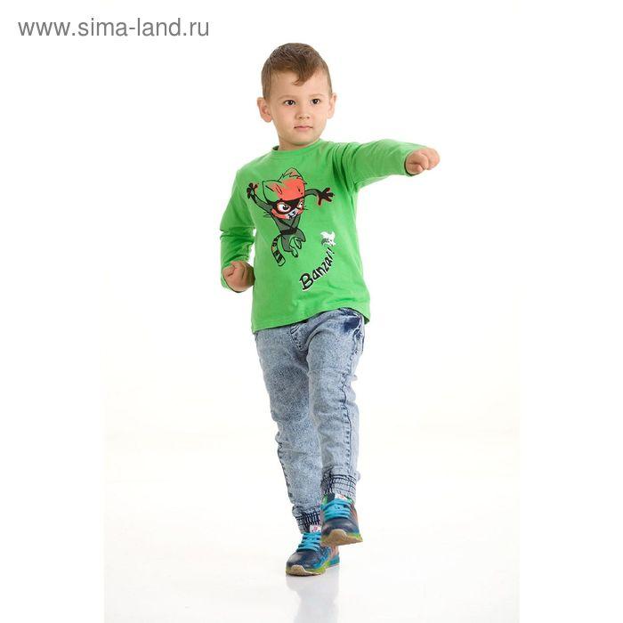 Джемпер для мальчиков, 4 года, цвет Зеленый BJR373