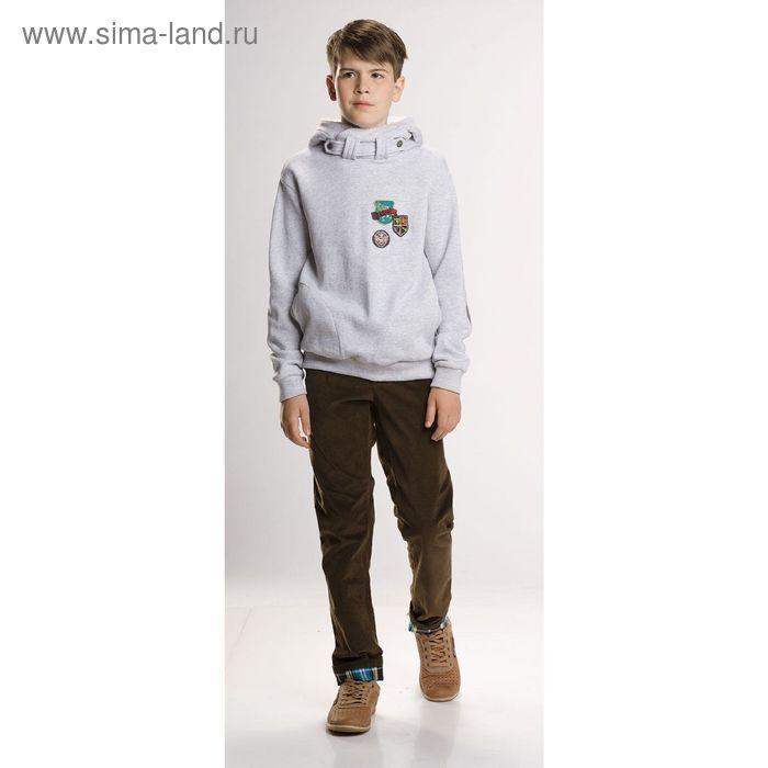 Джемпер для мальчиков, 10 лет, цвет Серый BJK474