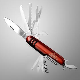 Нож швейцарский Мастер К 11в1, красный в Донецке