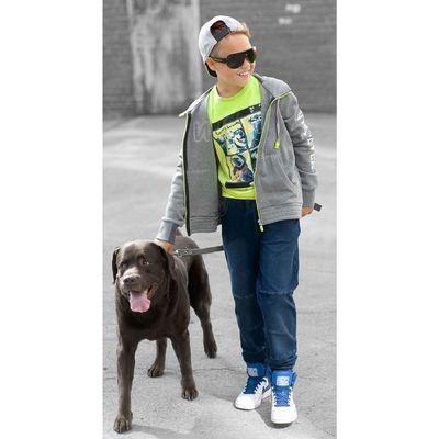 Брюки для мальчиков, возраст 11 лет, цвет джинс