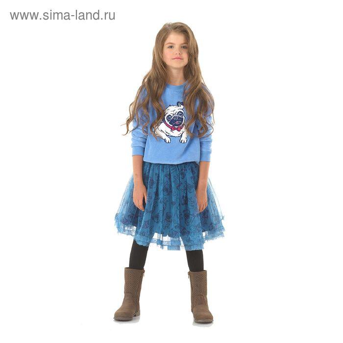 Юбка для девочек, 6 лет, цвет Синий GS4006