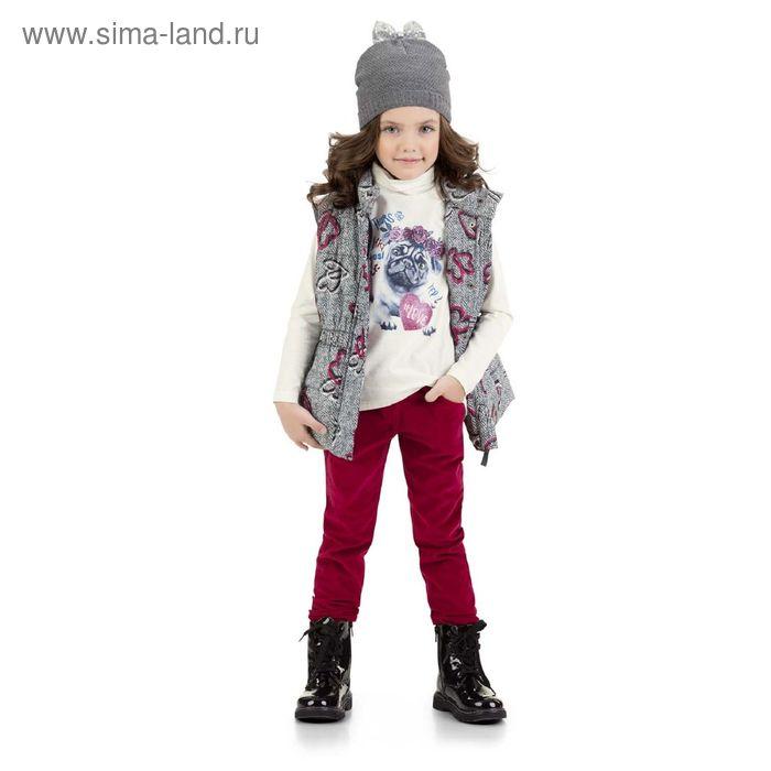 Брюки для девочек, 5 лет, цвет Красный GWP3006/2