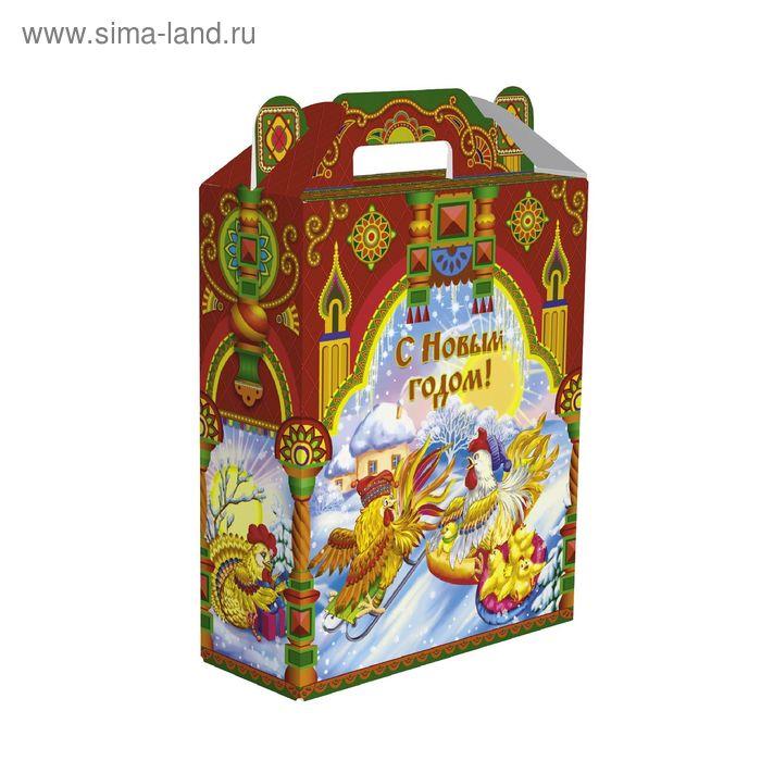 """Подарочная коробка """"Петушки"""", сборная, 16,8х7х25 см"""